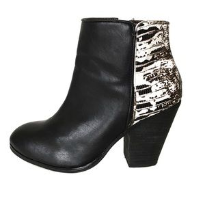 Report Signature Animal Print Ankle Boots 7.5